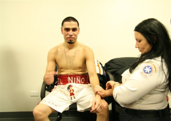 Francisco Rodriguez folllowing his victory over Torrance Daniels last year in Chicago (photo by Juan C. Ayllon)