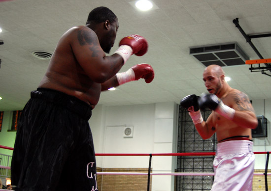 "Cleophris Glover (left) squares off against David ""Diesel"" Latoria"