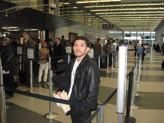 David Diaz at Chicago's O'Hare Airport