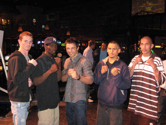 (left to right) Michael Finney, Terence Crawford, Bradley Blankenship, Fidel Maldonado Jr., Robert Rodriguez [Photo courtesy TKO Boxing Promotions]
