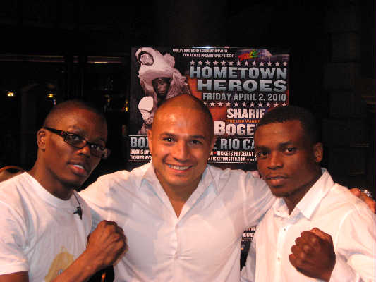 Lonnie Smith, Eddie Salas, Sharif Bogere [Photo courtesy TKO Boxing Promotions]