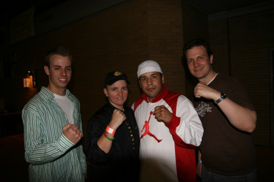 "Left to right: Connor, Rita ""La Guera"" Figueroa, ""Macho"" Miguel Hernandez and Daniel Royle"