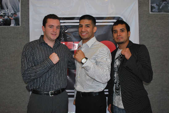 (Left to right) Artie DePinho, Gabino Saenz, Fred Vega--photo courtesy TKO Boxing Promotions