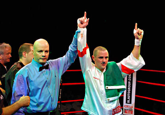 """The Western Warrior"" Henry Coyle celebrates his victory"