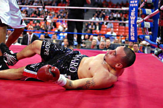 Mendez finds himself on the canvas