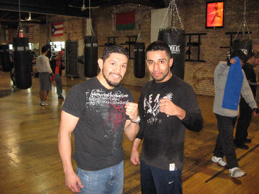 Ivan Popoca (R) with David Diaz -- Photo Courtesy 8 Count Productions