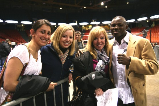 Osumanu Adama, who won the Vacant International Boxing Organization Intercontinental Middleweight and vacant USBA Middleweight titles with Belle and friends.