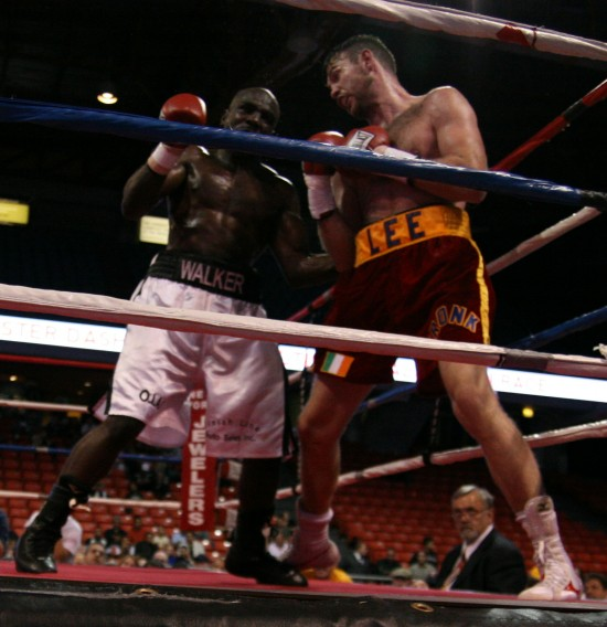Andy Lee shown here beating Michael Walker this last  year (photo by Belle)