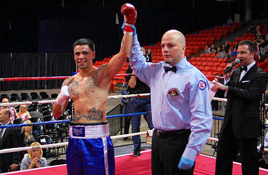 Garcia is declare the winner by TKO