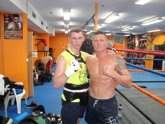 Fonfara (L) and Danny Green, photo courtesy of Team Fonfara