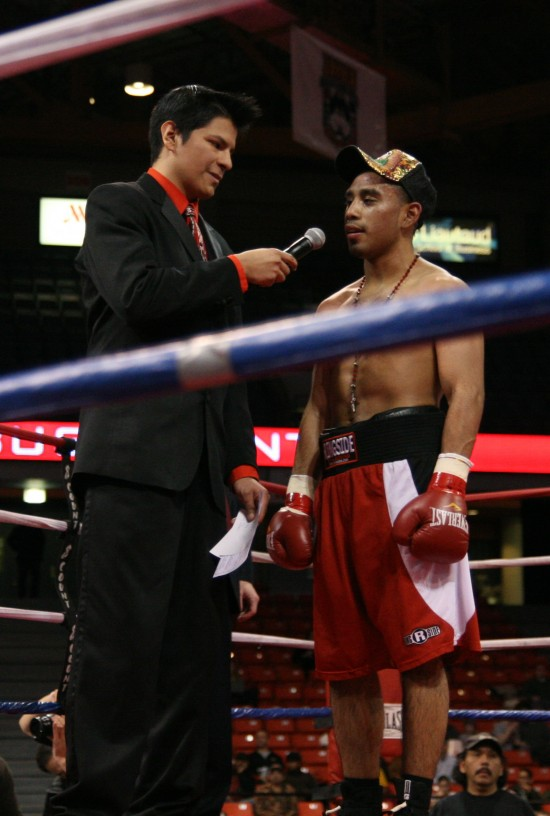 Ray Flores interviews Bustamante after his fight.
