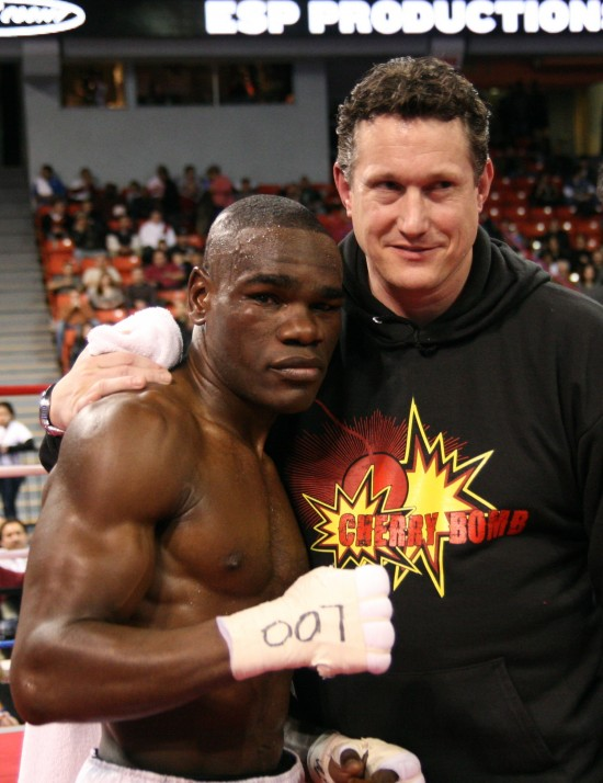 Edner Cherry with manager Pat Doljanin