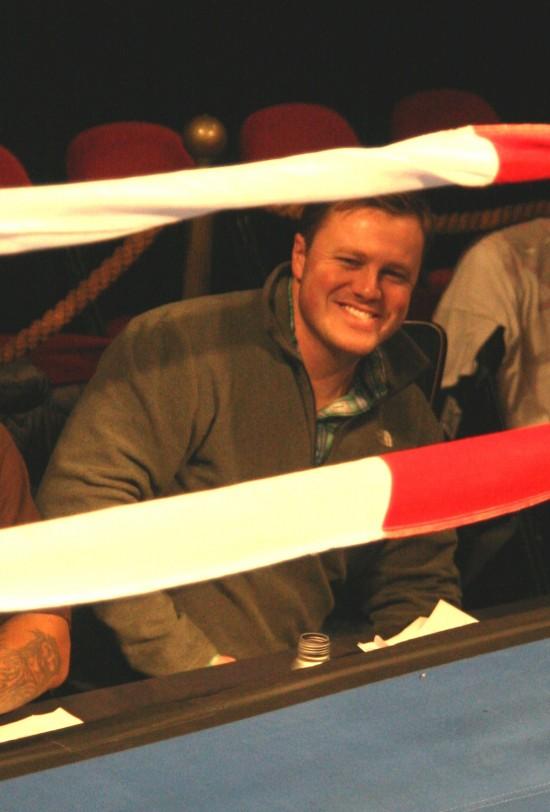 Ryan Shaw at ringside.