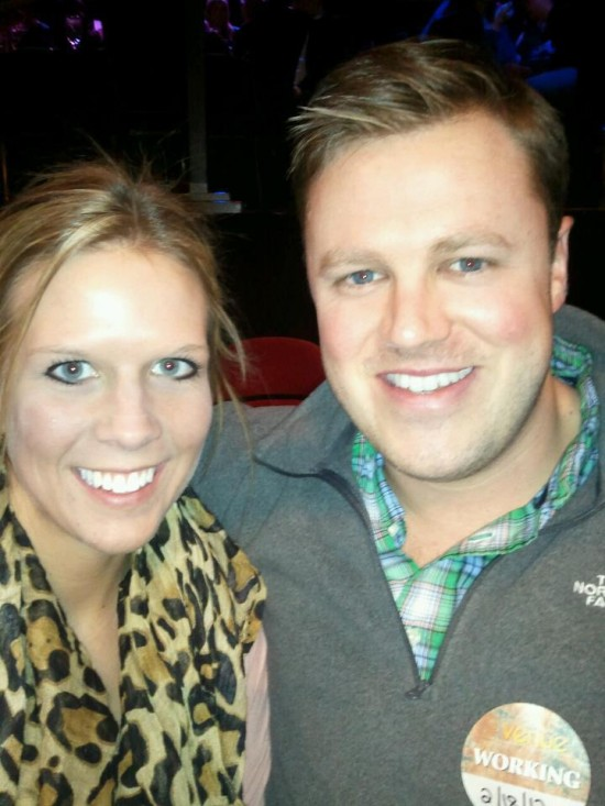 Jen Bohl with Ryan Shaw at the Horseshoe Casino.