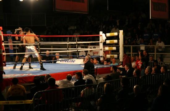 Granados (right) attacks.