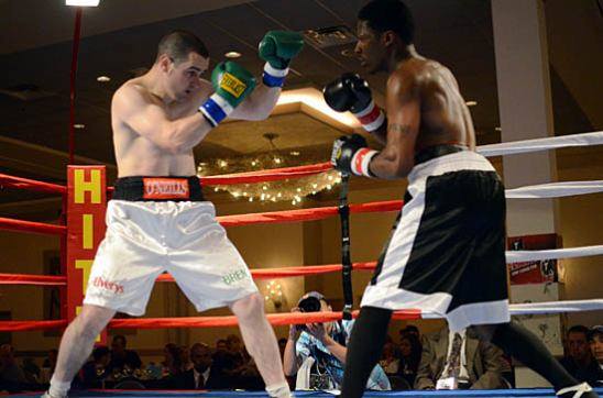 Coyle (L) and Antoine square off