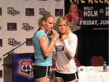 (L-R) Anne Sophie Mathis and Holly Holm