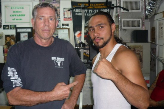 Dan Birmingham (left) with Keith Thurman (photo by Belle Ayllon)