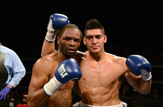 "The Changing of the Guard: Antwun Echols (L) and ""Hollywood"" Jimenez after Jimenez's Victory"