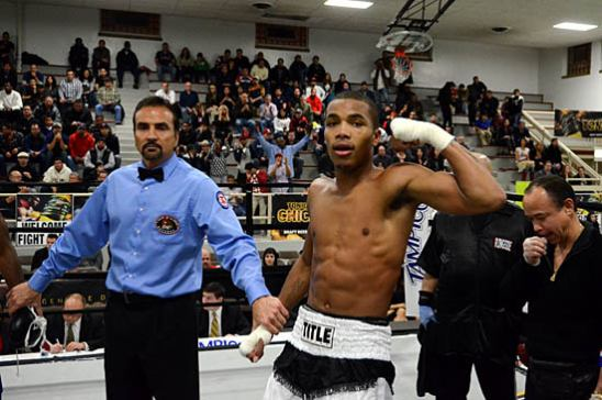 Ed Brown after his successful pro debut