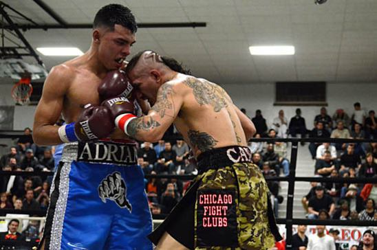 Canas (R) charges, even in the fifth round