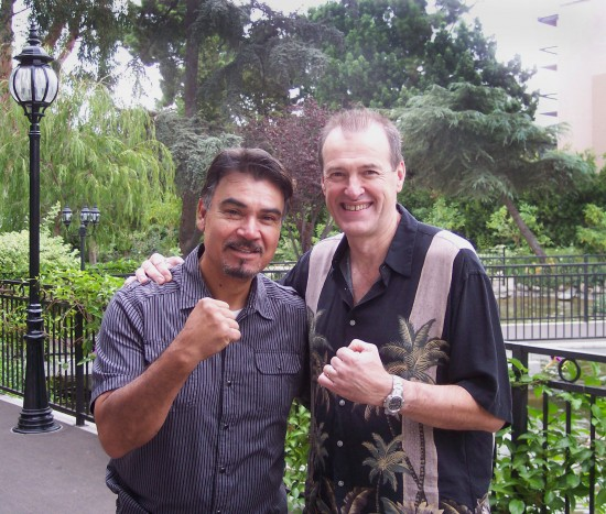Carlos Palomino (left) with the author, Dan Hanley