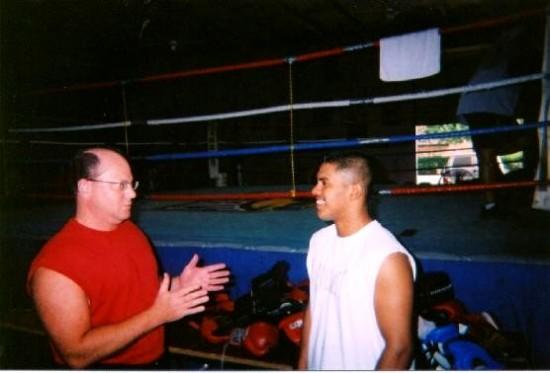 Karl Hegman, at left, with Juan Diaz