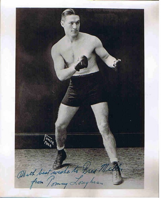 Famed Tommy Loughran, who defended his World Light Heavyweight Title successfully against Pete Latzo on June 1, 1928 (photo courtesy of championsofthering.com)