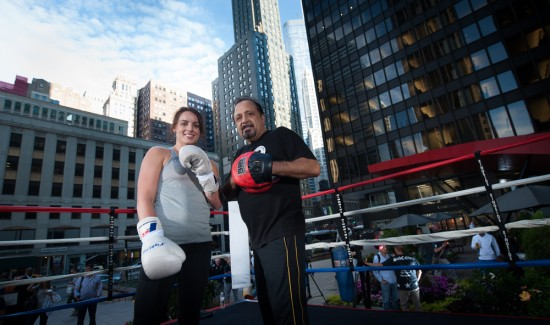 Kerstin Gearhart with trainer Sam Colonna