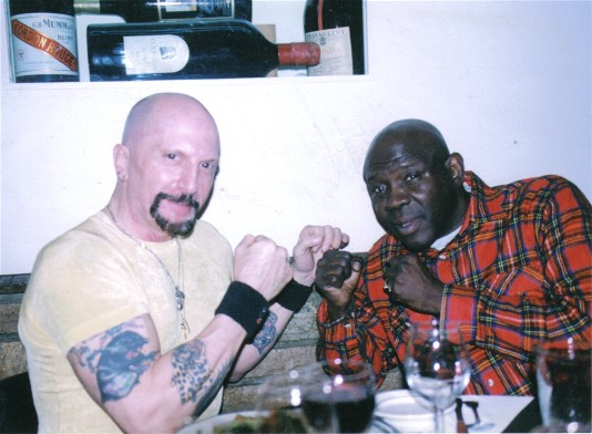 Ron Lipton, at left, with Emile Griffith