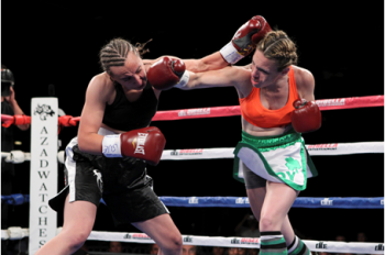 The popular Heather Hardy (right) returns May 18th  - Photo by DiBella Entertainment/ Ed Diller