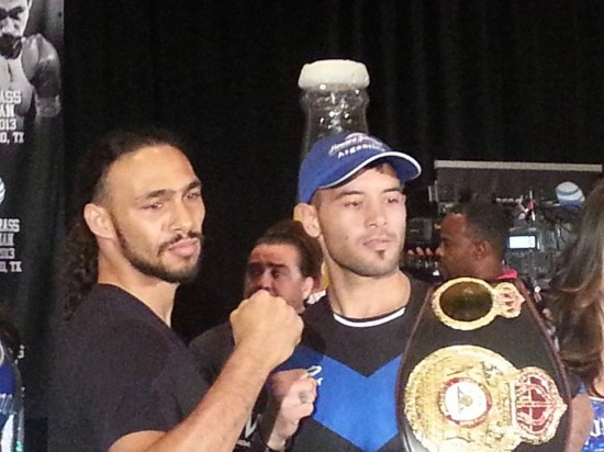 Thurman and Chaves at a press conference this week (photo by Chris Getty)