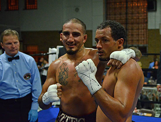 Two Warriors: Antonio Canas (L) and Greg Coverson
