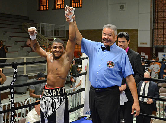Semajay Thomas enjoys his pro debut victory