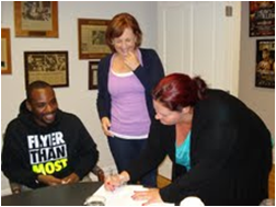 Lionell Thompson, Kathy Duva  and Jolene Mizzone, Main Events matchmaker