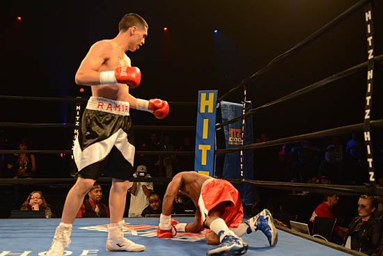 Eddie Ramirez Scores his First TKO as a Pro