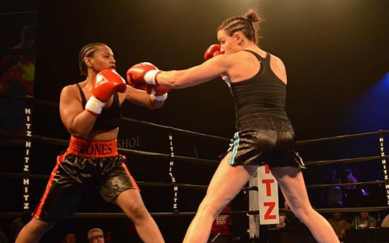 Kristin Gearhart (R) Keeps Allanna Jones at Bay
