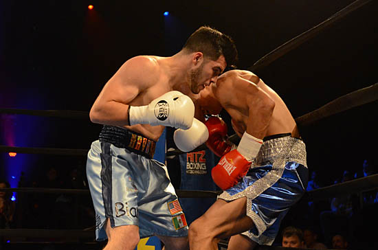 Navarro (L) on the attack