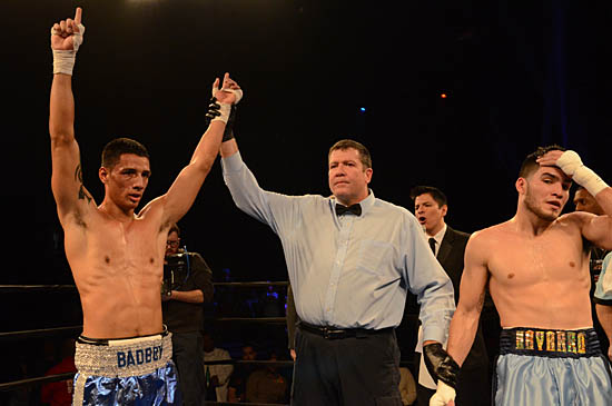 Nick Ramirez (L) is declared the victor, while Roy Navarro registers his disappointment
