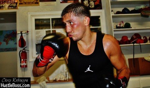Gennady Golovkin in training (photo courtesy of Chris Robinson/Hustlebox.com)