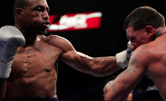 J'Leon Love, at left, in action (photo courtesy of http://sports.sho.com/boxing)
