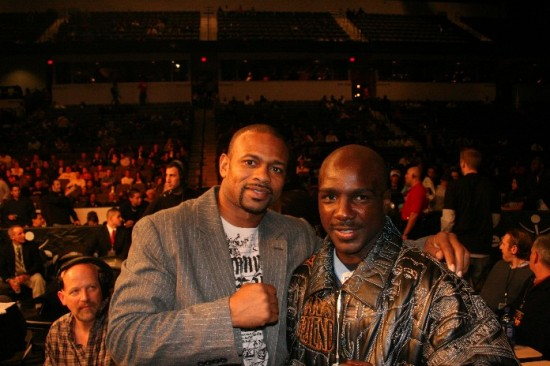 Michael Walker, at right, with Roy Jones, Jr. (photo by Trayce Zimmerman)