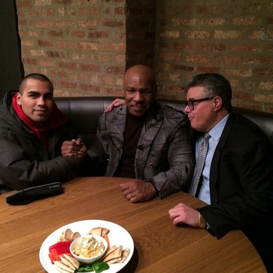 Left to right: Carlos Molina, Mike Tyson and Luis DeCubas