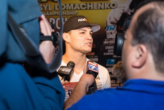 Bryan Vera addresses the media (photo by Ruben Cortez - Top Rank, Copyright 2014)