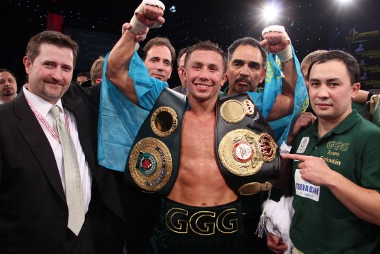 Golovkin, seen here after his recent win over Adama.