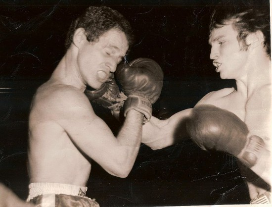 Pete Podgorski in his amateur days bouncing a right hand off the jaw of Johnny Lira