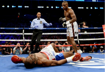 The powerful Quillin has knocked down his opponents a grand total of 32 times in 30 fights,   including 11 in his three world title fights