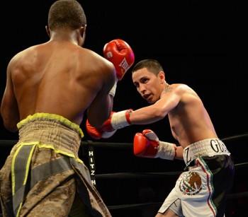 Adan Ortiz (R) keeps the pressure on Antoine Knight