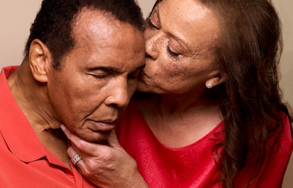 Muhammad and Lonnie Ali (photo courtesy of www.aarp.org)