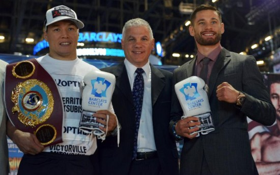 Ruslan Provodnikov- Joe DeGuardia-Chris Algieri (photo courtesy Star Boxing by Rich Villa)